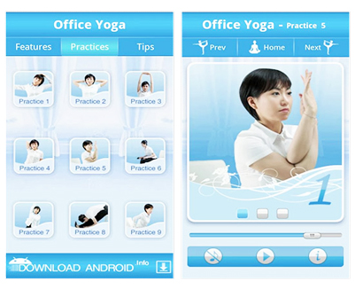 apps fitness office yoga